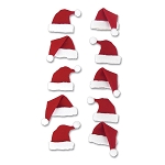 Santa Hats Dimensional Stickers