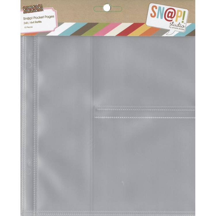 Snap! 6x8 Pocket Pages - 2X8 & 4X4