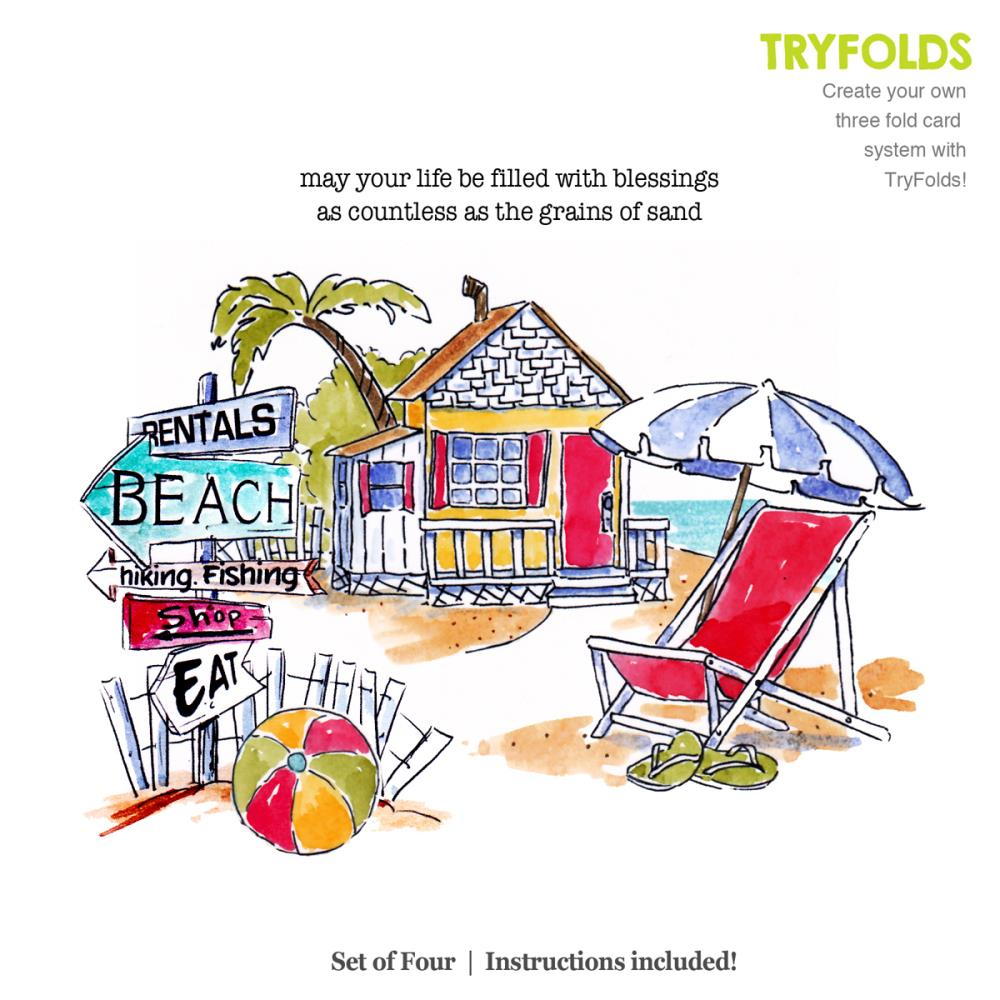 Try'folds Beach Stamp Set