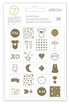 Clara Gold Foil Icon Stickers