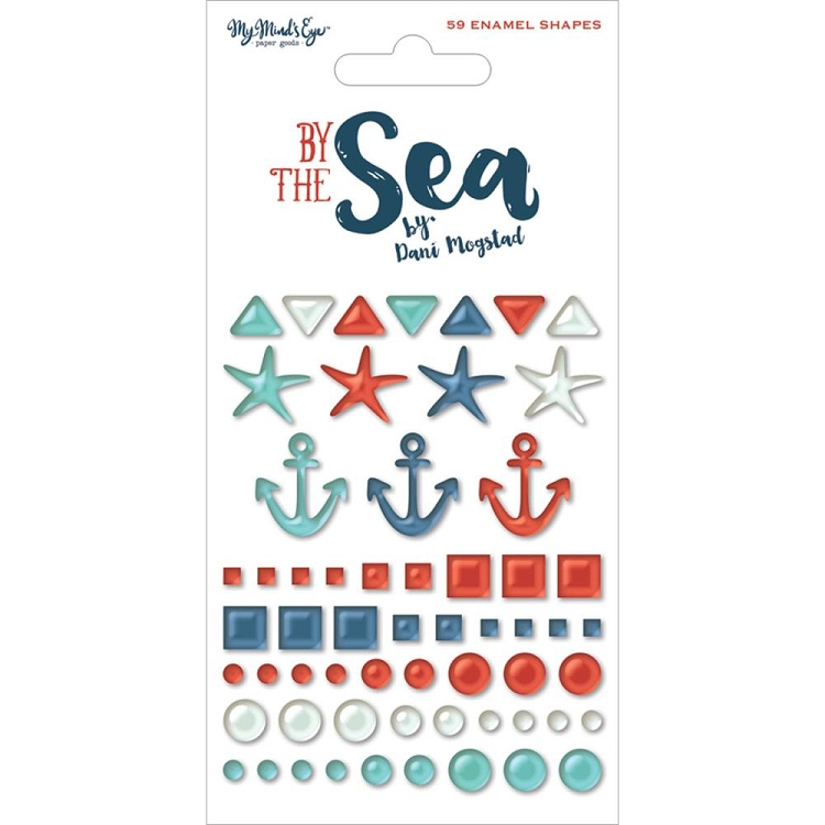 By the Sea Enamel Shapes
