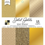 Solid Golds 6x6 Cardstock Stack