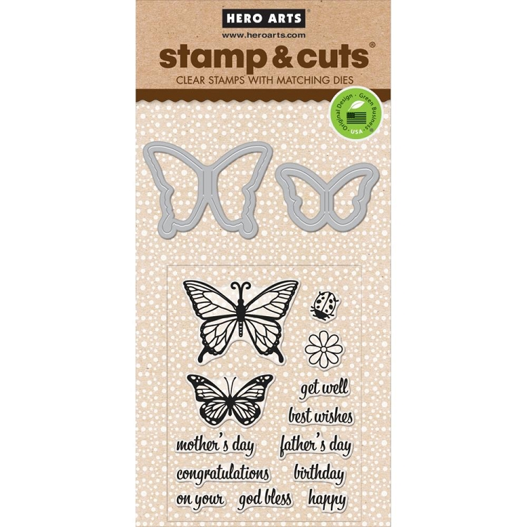 Butterfly Pair Stamp & Cut