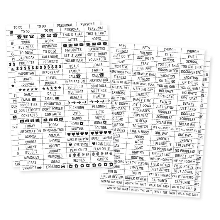 Planner Essentials Labels Clear Stickers