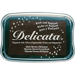 Delicata Ink Pad Dark Brown Shimmer
