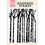 Winter Trees Background Stamp
