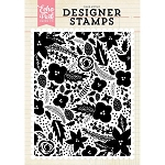 Holiday Floral Background Stamp