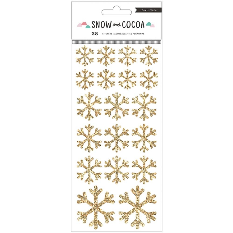Snow and Cocoa Snowflakes Stickers