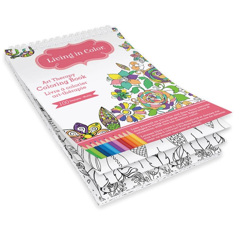 Azteca Living in Color Coloring Book