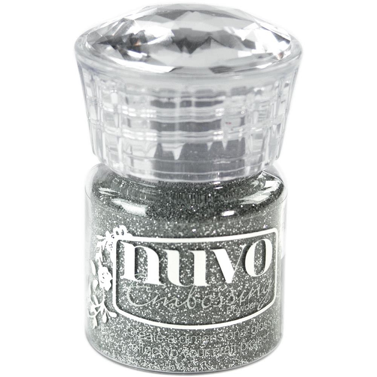 Nuvo Embossing Powder Silver Moonlight