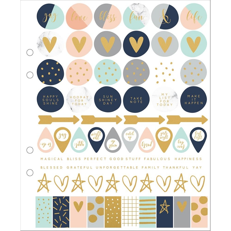 Gold Foil Icons Planner Stickers