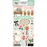 Flower Market Chipboard Accents