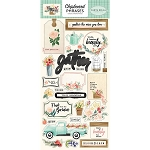 Flower Market Chipboard Phrases