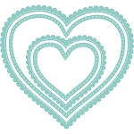 Nesting Scalloped Stitched Hearts Dies