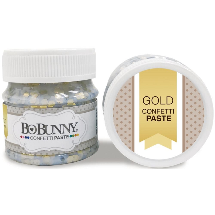 Double Dot Glitter Paste Gold Confetti