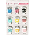 Drink Cups Puffy Stickers