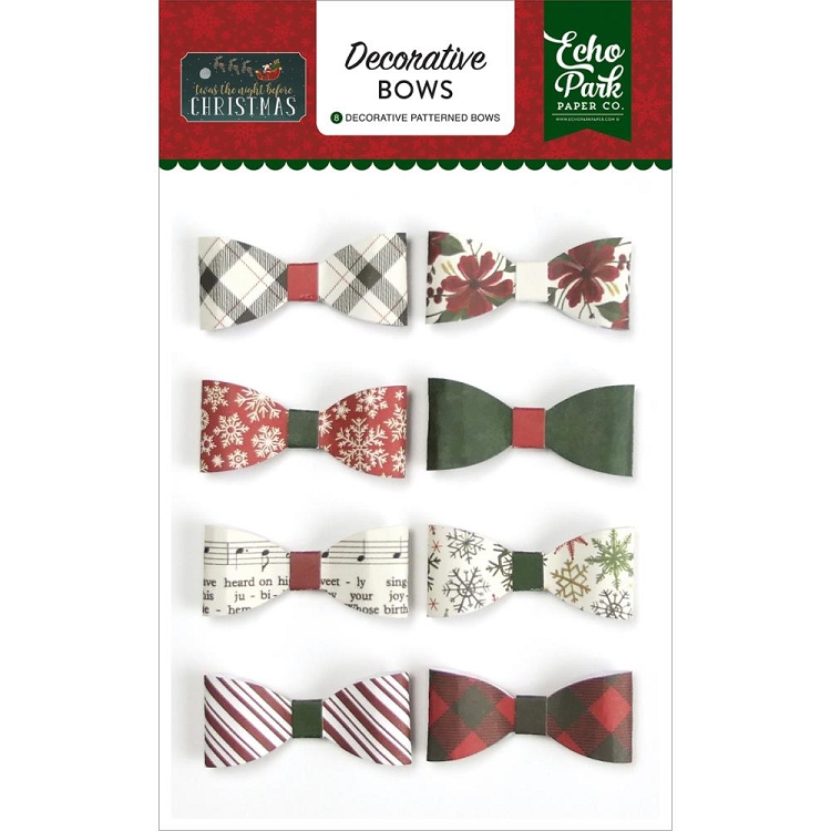 Twas The Night Before Christmas Decorative Bows