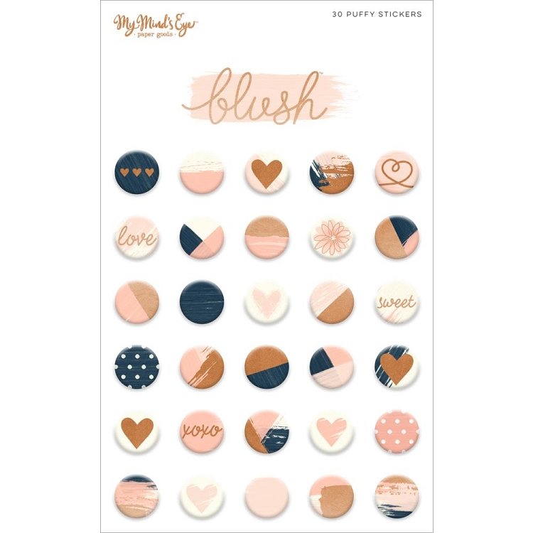 Blush Puffy Stickers