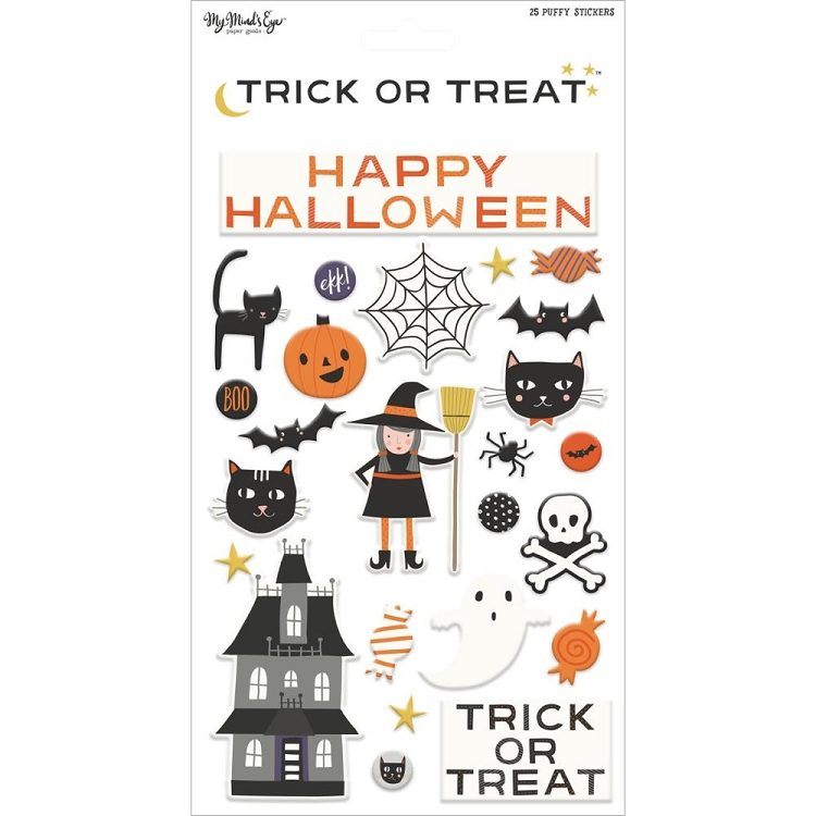Trick Or Treat Puffy Stickers