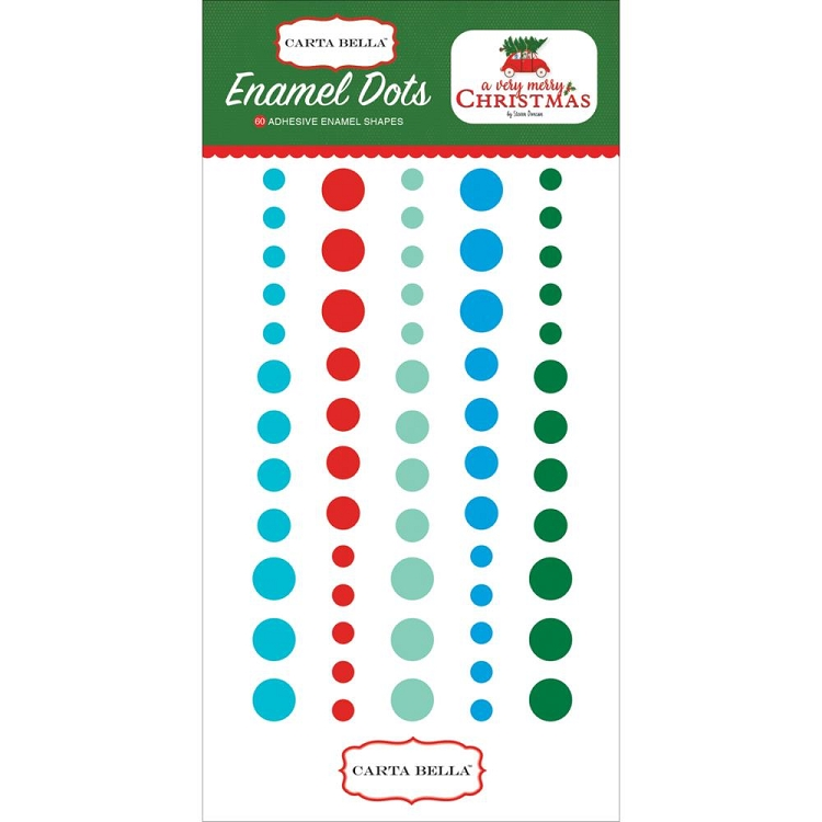 A Very Merry Christmas Enamel Dots