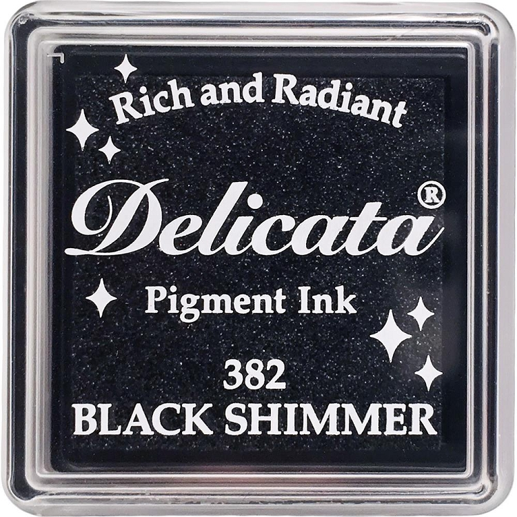 Delicata Small Ink Pad Black Shimmer
