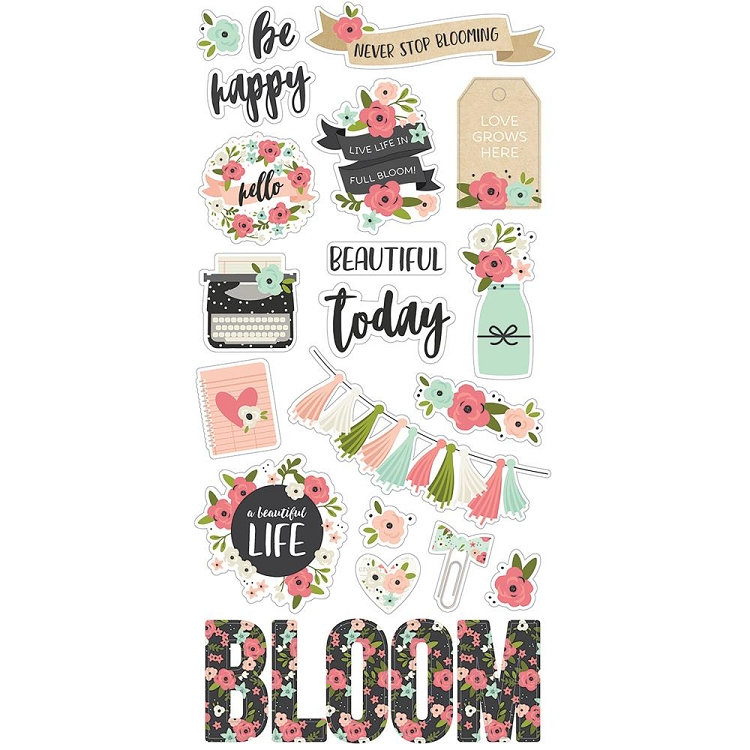 Bloom Chipboard Stickers