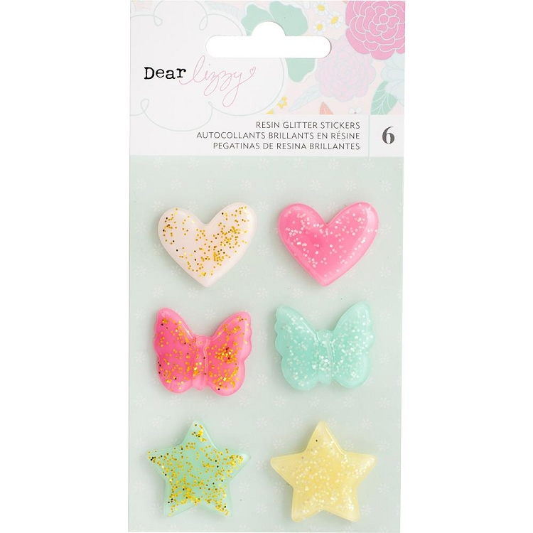 Stay Colorful Glitter Resin Shapes