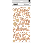 Confetti Wishes Get Together Phrase Thickers