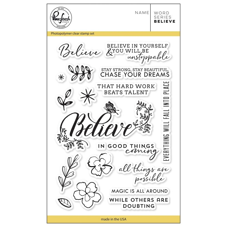 Word series: Believe Stamp Set
