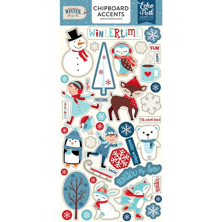 Celebrate Winter Accents Chipboard Stickers