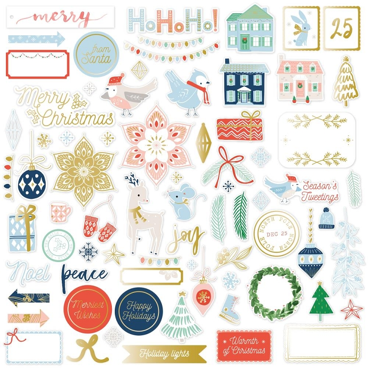 Holiday Vibes Gold Foil Die Cuts