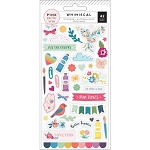 Whimsical Puffy Stickers