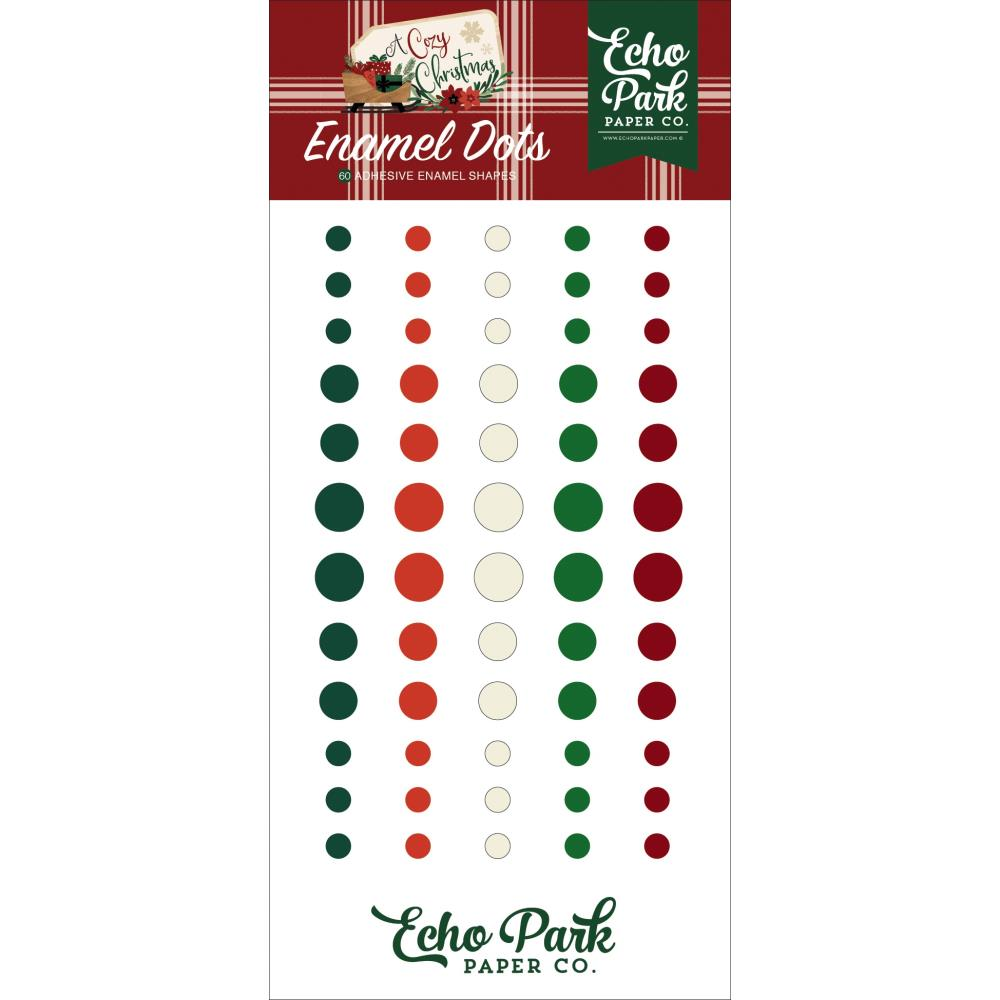 A Cozy Christmas Enamel Dots
