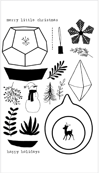 Holiday Terrarium Stamp Set