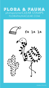 Mini Desert Flamingo Stamp Set
