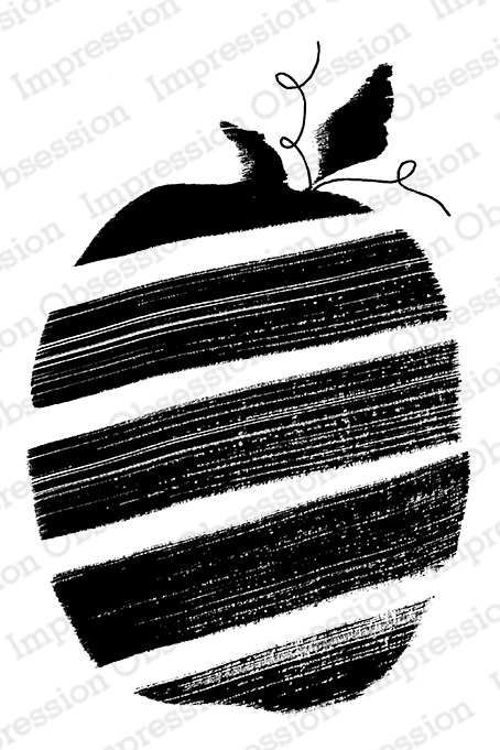 Painted Pumpkin Rubber Stamp