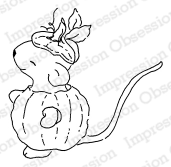 Pumpkin Mouse Stamp