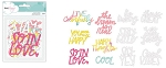 Happy Place Watercolor Die Cut Phrases