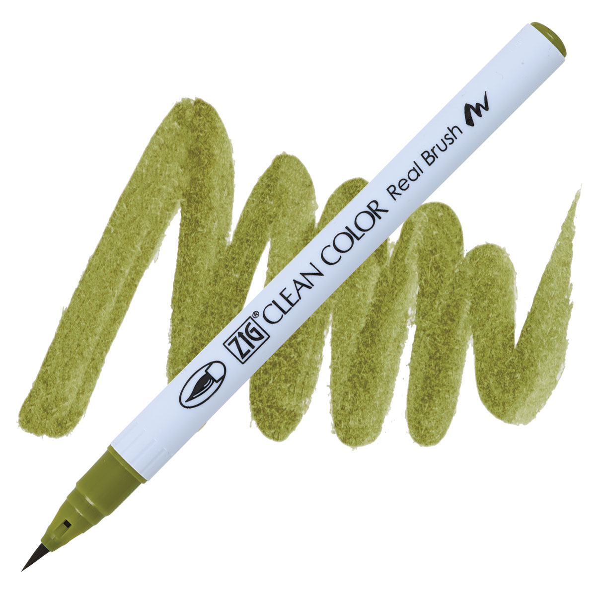 Clean Color Real Brush Marker Olive Green