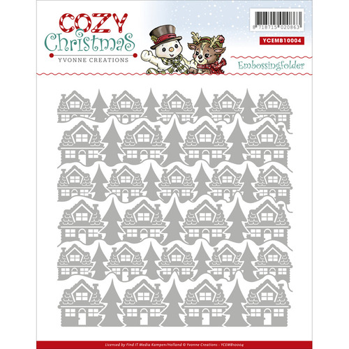 Cozy Christmas Embossing Folder