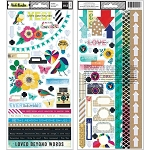 Color Kaleidoscope Accent Stickers