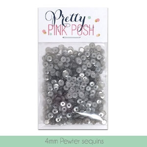 4mm Pewter Sequins