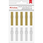 Deck the Halls Gold & Silver Clothespins