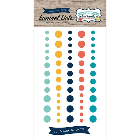 The Story of Our Family Enamel Dots