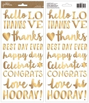 Spring Fling Gold Foil Phrase Stickers