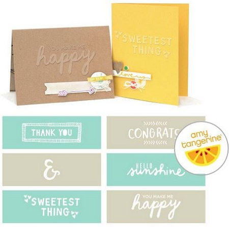 Embossing Strips Amy Tangerine Rise & Shine