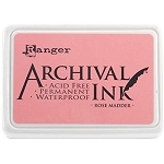 Archival Ink Pad - Rose Madder