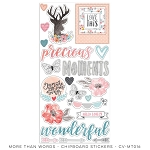 More Than Words Chipboard Stickers