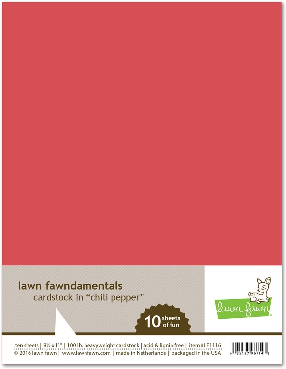 8.5 x 11 Cardstock Chili Pepper