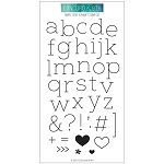 Simple Serif Alphabet Stamp Set